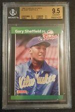 1989 DONRUSS ROOKIES #1 GARY SHEFFIELD BGS GEM MINT 9.5 ROOKIE CARD