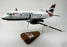 SF-340 Saab British Airways SF340 Airplane Desktop Kiln Dry Wood Model Small
