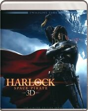 HARLOCK SPACE PIRATE -3D- NEW SEALED TWILIGHT TIME 3500 LIMITED EDITION  BLU-RAY