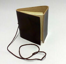 """Leather Bound Note Book, Journel, Diary, 3"""" x 3"""" Hand Made Paper, LARP"""