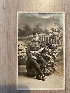 Postcard soldier portrait Loyal North Lancashire regiment