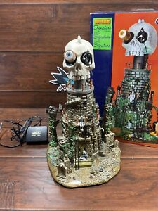 Lemax Spooky Town Mt Gloom Observatory Halloween Light Sound Animation Used READ