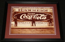 Vintage Coca Cola Bristol Drug Store Framed 11x14 Poster Display Official Repro
