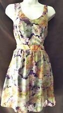 New Cute Floral Sundress Skater Summer  Dress Size Large