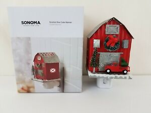 New Scented Wax Cube Outlet Warmer Sonoma Rustic Red Barn Tin Roof Pickup Truck