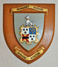Sebright School wall plaque shield coat of arms