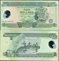 Solomon Islands 2 Dollars ND 2001 P 23 Polymer UNC