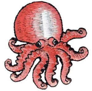 "Octopus Applique Patch - Ocean, Sea Creature Badge 2"" (Iron on)"