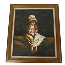 Vintage Reproduction Oil Painting Framed Cherry Ripe Millais / Artist Signed