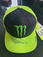 Valentino ROSSIHAND SIGNED Snapback CAP,MOTOGPMonster YAMAHAVALE VR46