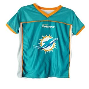 Miami Dolphins Reversible Flag Football Jersey Youth Sz Large NFL Play Unisex