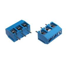 10x Morsettiera Connettore a vite 3-Poli PCB Screw Terminal Block Morsetti Blu