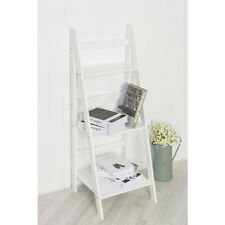 3 TIER WHITE LADDER SHELF PLANT FLOWER POT WINE BOOK PHOTO DISPLAY RACK FOLDING