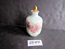 Vintage Hand Painted Limoges Covered Dresser Bottle - Perfume H&C Co