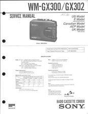 Sony Original Service Manual für WM-GX 300/GX302