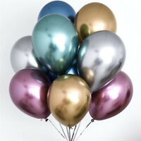 10pc Thick Metal Latex Balloons Wedding Balloon Birthday Party Decor 12inch