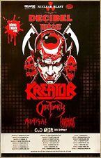 KREATOR | OBITUARY 2017 Ltd Ed New RARE Tour Poster! Metal Rock Gods Of Violence