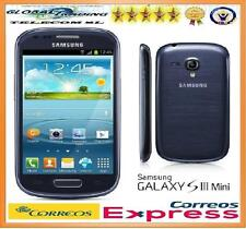 SAMSUNG GALAXY S3 MINI i8190 / i8190N BLUE FREE 8GB PEPPER BLUE PHONE MOBILE