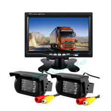 """2*18 IR LED CCD Reverse Camera + 7"""" LCD Monitor Car Rear View Kit for Bus Truck"""