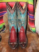 Stetson  Brand New  Snip Toe Cowboy Heel Pull Tabs Flower Inlays Stunning boots