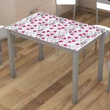Mesa de cocina 110x75x70cm Cadell color gris diseño moderno elaborada en cristal
