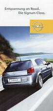 Prospekt Opel Signum Class Zubehör 2004 Folder Autoprospekt Auto brochure access