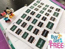 PP334 -- No School Reminder Planner Stickers for Erin Condren (34pcs)