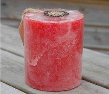 """ST EVAL """" ROSE ROSA """" PROFUMATO candela pilastro 10.2cmx8.9cm 90 ore durata"""