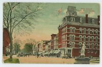 West Side of South Broad Street NORWICH NY Vintage New York Postcard