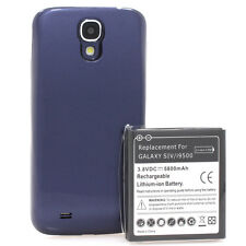 Samsung GALAXY s4 i9500 i9505 batteria Power Batteria 5800mah BUMPER COVER BLU