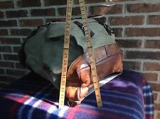 VINTAGE 1950'S BATTENKILL CANVAS & SADDLE LEATHER BACKPACK RUCKSACK SWISS R$798