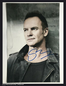 STING - HAND-SIGNED 12X8 PHOTO AUTOGRAPH