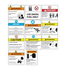 Ingersoll Rand Air Compressor Safety Decal Kit