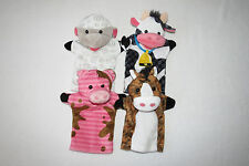 Melissa & Doug Farm Friends Cow Horse Pig Sheep Theater Hand Stage Puppet Lot 9""