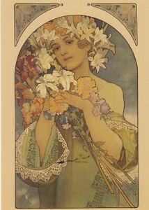 Kunstkarte: Alfons Mucha - Blumen / Flowers  / 1897
