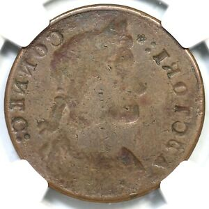 (1787) M 31.1- NGC F 12 Obv Brockage Connecticut Colonial Copper Coin