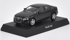 Kyosho 1/64 Alloy car model,Audi A4 Collect gifts Black and white