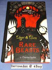 Edgar & Ellen Rare Beasts Charles Ogden Rick Carton Hardcover Aladdin 2003 Used