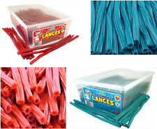 Strawberry Lances Blue Raspberry Retro Sweets Twists 250G 550G Full Tub Candy
