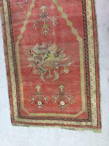 Odd & Unusual Caucasian Semi-antique Large Oriental Prayer Rug No Reserve