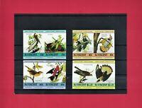 SCARCE IMPERFORATE VARIETY ST. VINCENT 1985 John James Audubon 4 Stamps Set  MNH