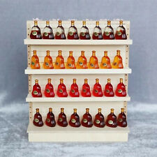 Wooden 1:12 Dollhouse Miniature Supermarket Shelves for Food Drink Display QE