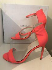Fluro Pink Strappy Sandal High Heels UK 6 / Eur 39 Karen Millen Preowned Boxed