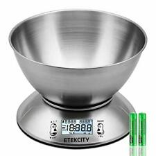 Etekcity Digital Kitchen Food Scales, Stainless Steel Weighing Cooking...
