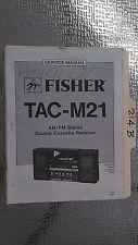 Fisher tac-m21 service manual original repair book stereo radio record player