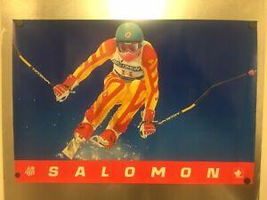 RARE Straight From Advertiser: 1980 Calgary Canada Olympics Salomon Skis Poster