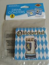 New listing 8 Oktoberfest Drink Coasters, New in Package