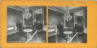 Versailles Gran Trianon Despacho De Travail De Napoleón 1er Foto Estéreo Vintage