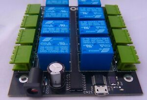 8-channel USB 12V relay board for Raspberry Pi and computer projects UK