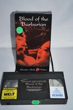 Blood of the Barbarian Master Kung Fu Video Marital Art VHS OOP